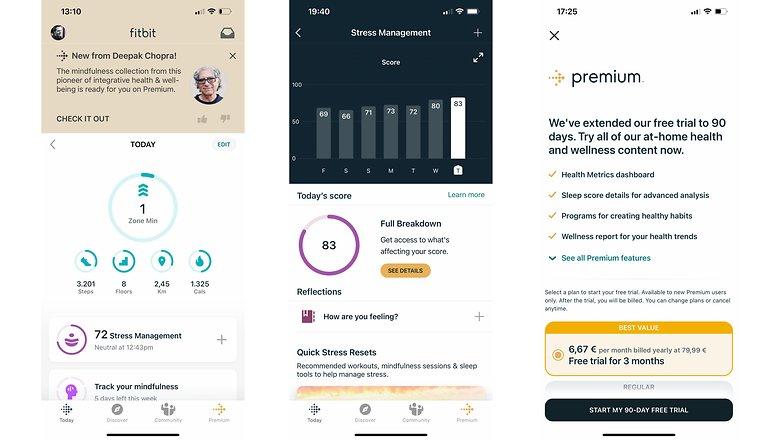 NextPit fitbit versa 3 screenshots premium
