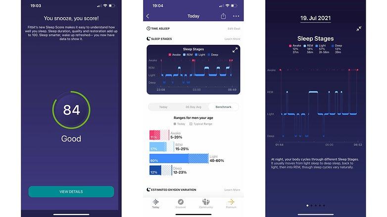 NextPit fitbit versa 3 screenshots sleep