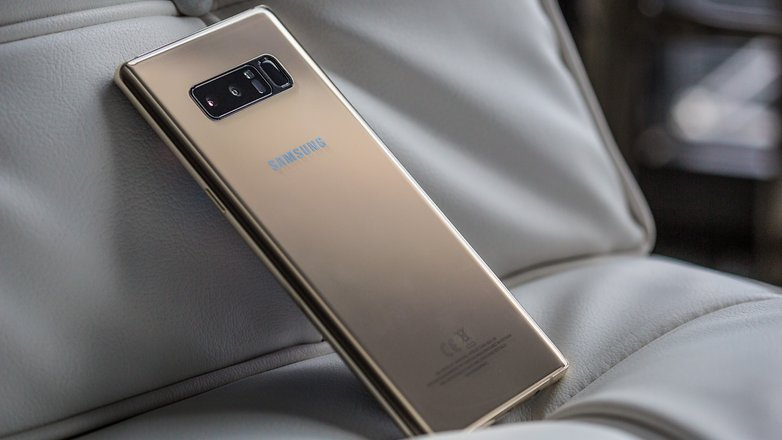 galaxy note 8 gold back
