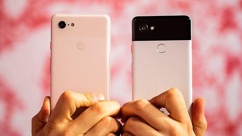AndroidPIT Google pixel 3 xl pixel 2 xl back