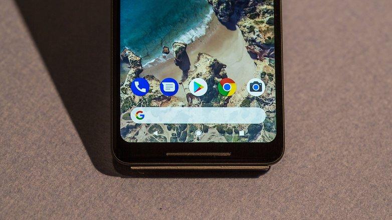 google pixel 2 xl lower display