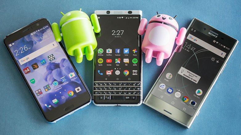 htc u11 sony xperia xz premium blackberry keyone