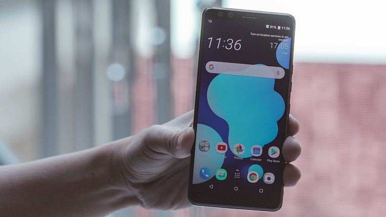 AndroidPIT htc u12 plus front