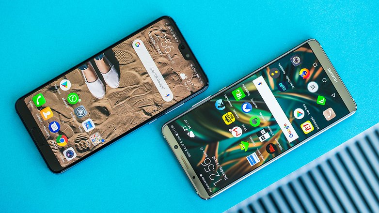 AndroidPIT huawei p20 pro vs mate 10 pro front2