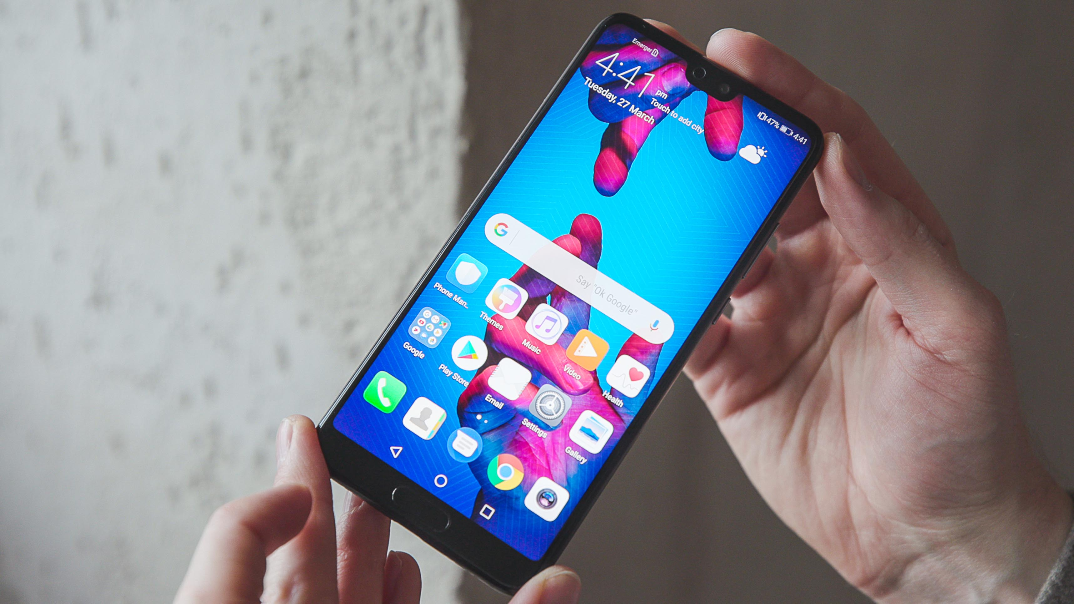 AndroidPIT huawei p20 display 2cbu