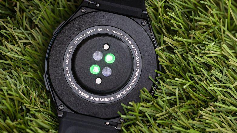 AndroidPIT huawei Uhr gt 2e Herzfrequenz-Stundensensor