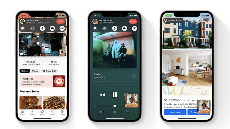 apple ios 15 shareplay options