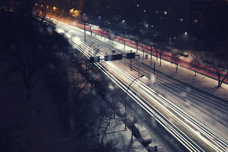 Exposição de fotografia noturna