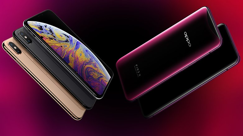 iphone xs oppo find x back