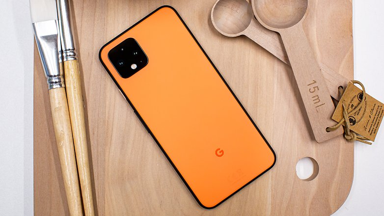 AndroidPIT google pixel 4 back orange ggl