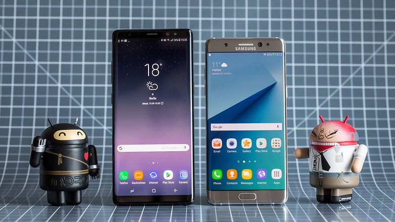 samsung galaxy note 8 note 7 front