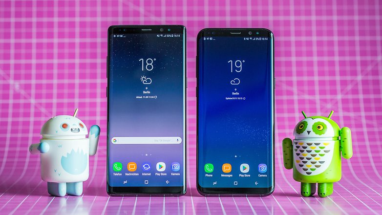 samsung galaxy note 8 s8 plus front