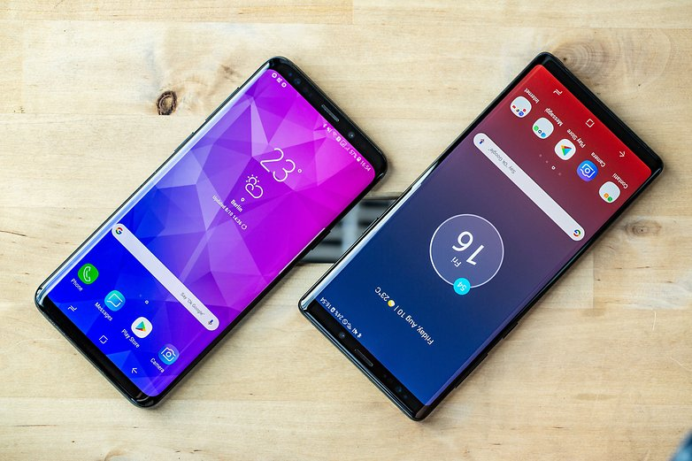 AndroidPIT samsung galaxy note 9 vs s9 plus front