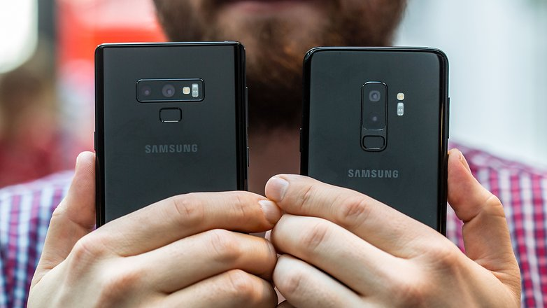 AndroidPIT samsung galaxy note9 vs s9 plus back