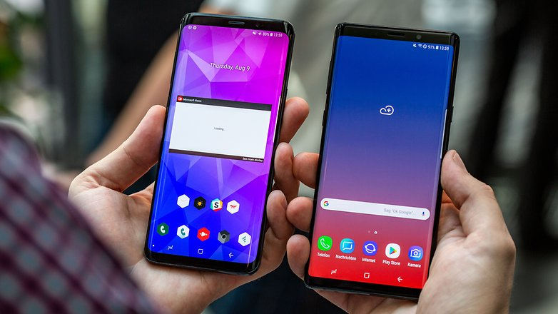 AndroidPIT samsung galaxy note9 vs s9 plus hero