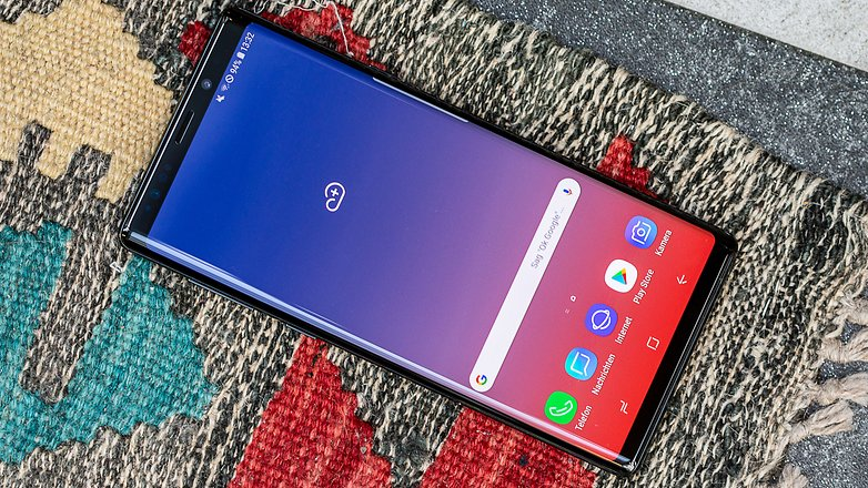 AndroidPIT samsung galaxy note9 front