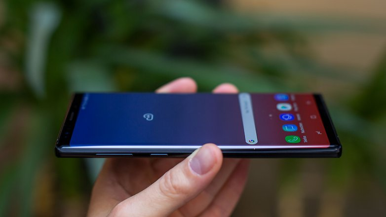 AndroidPIT samsung galaxy note9 side