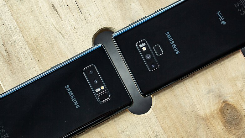 AndroidPIT samsung galaxy note8 vs note9 back detail