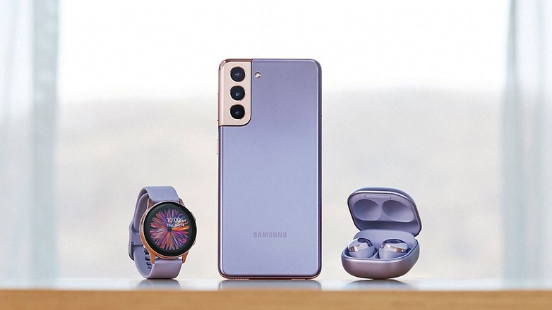samsung galaxy s21 plus violet buds pro watch c3po