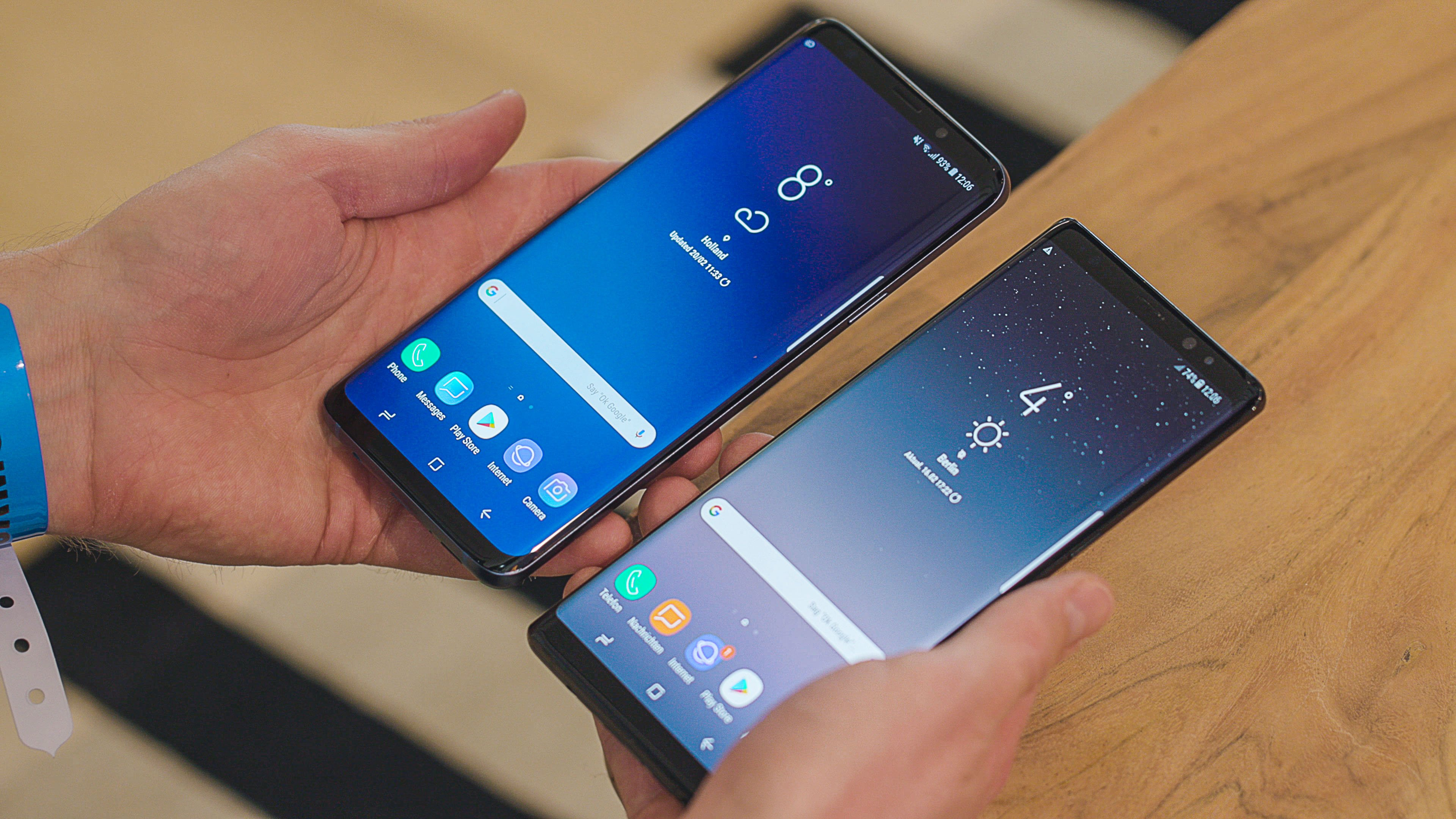 samsung galaxy s9 vs samsung galaxy s8 note