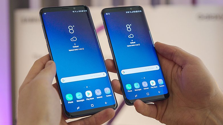 samsung galaxy s9 vs s9 plus front c2vx