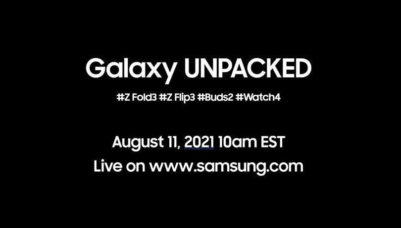 Samsung Unpacked am 11.08. mit Z Fold 3 & Flip 3, Buds 2 und Watch 4