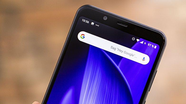 AndroidPIT sharp c20 display top