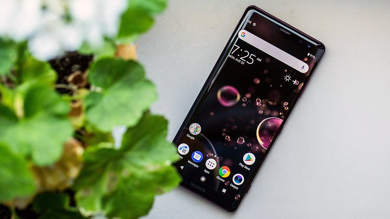 AndroidPIT sony xperia xz3 front