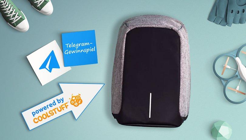 Das Telegram-Gewinnspiel: Gewinne einen Anti-Diebstahl-Rucksack
