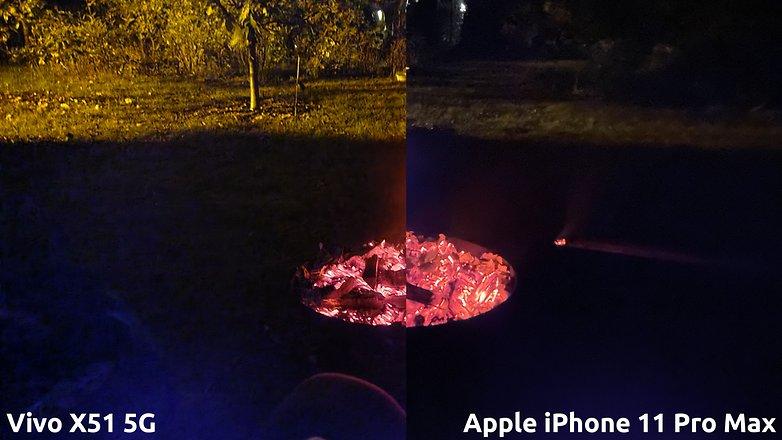 NextPit vivo x51 5g vs iphone nightmode