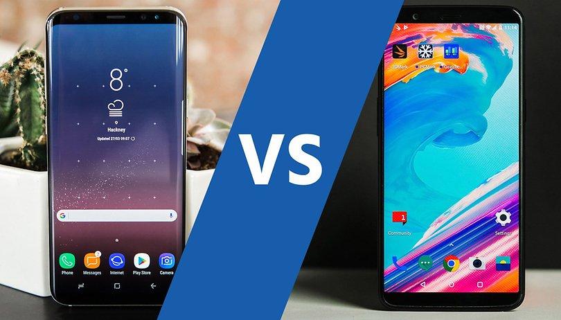 OnePlus 5T vs Samsung Galaxy S8: prezzo simile per due dispositivi molto diversi