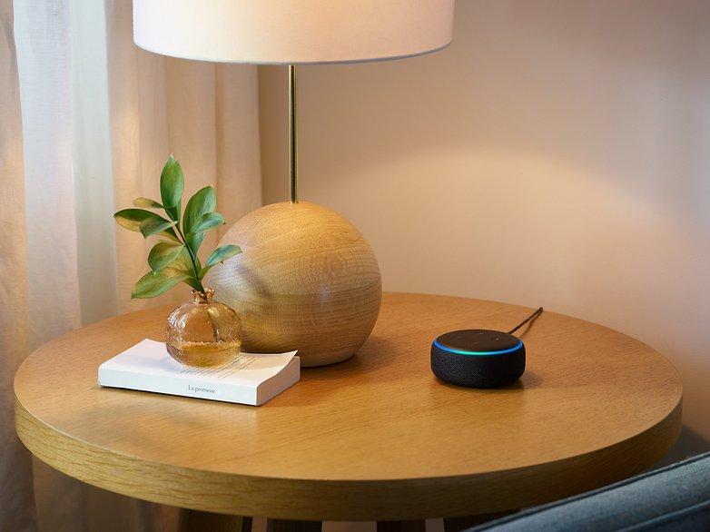 Echo Dot Charcoal Side Table