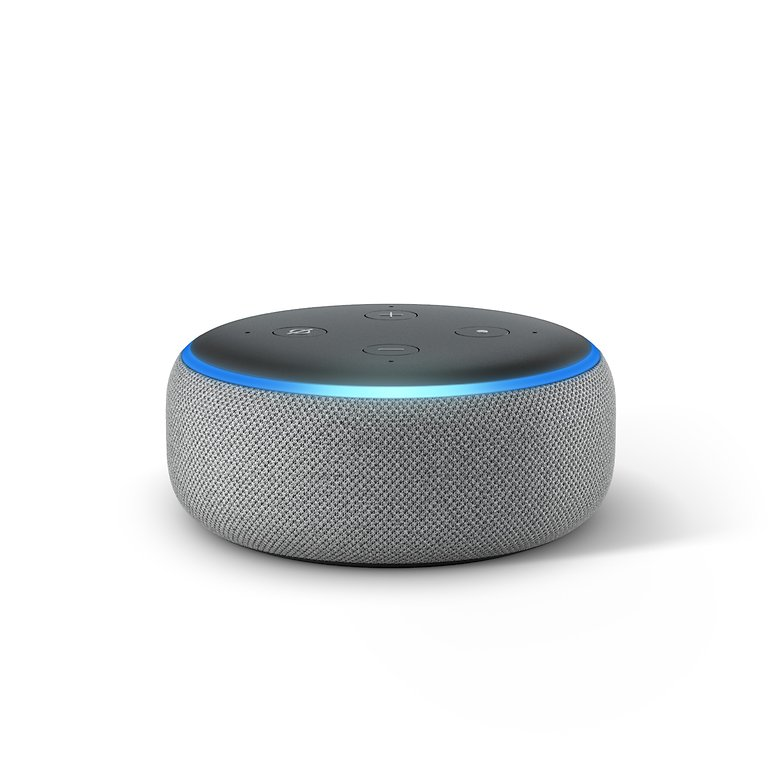 Echo Dot Heather Gray Front On