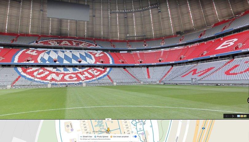 Virtuelle Stadiontour beim FC Bayern: Allianz Arena jetzt auf Google Street View