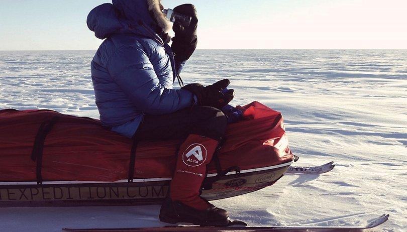 Mit dem Galaxy A5 alleine durch die Antarktis