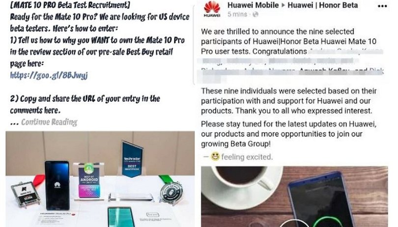 Huawei Mate 10 Pro: Fake reviews in exchange for free