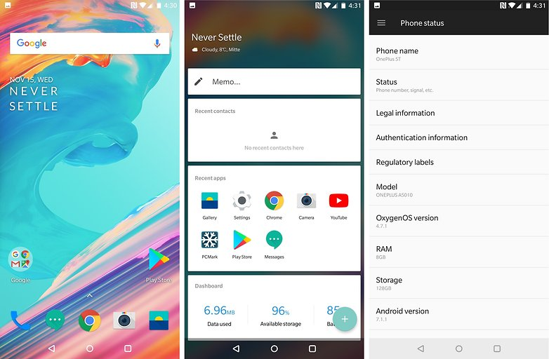 oneplus 5t software