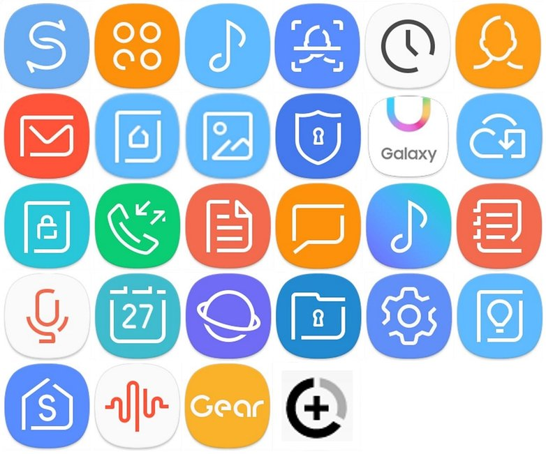 samsung icons all
