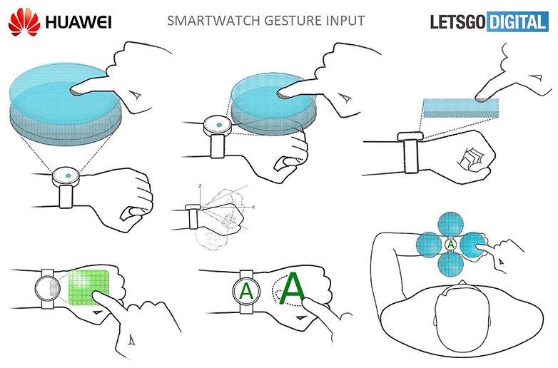 smartwatch gesture input