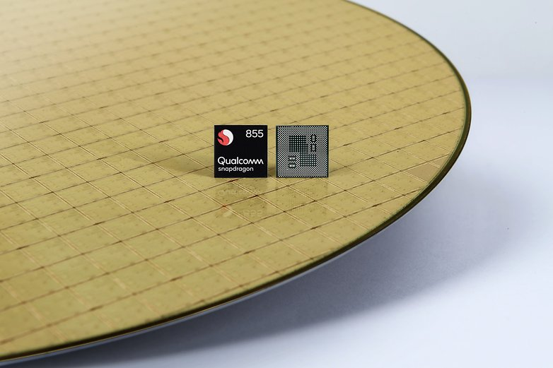 snapdragon 855 mobile platform chip on wafer
