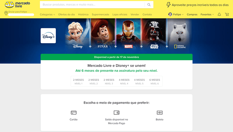 Disney+: usuários do Mercado Livre poderão ter até 6 meses de acesso grátis
