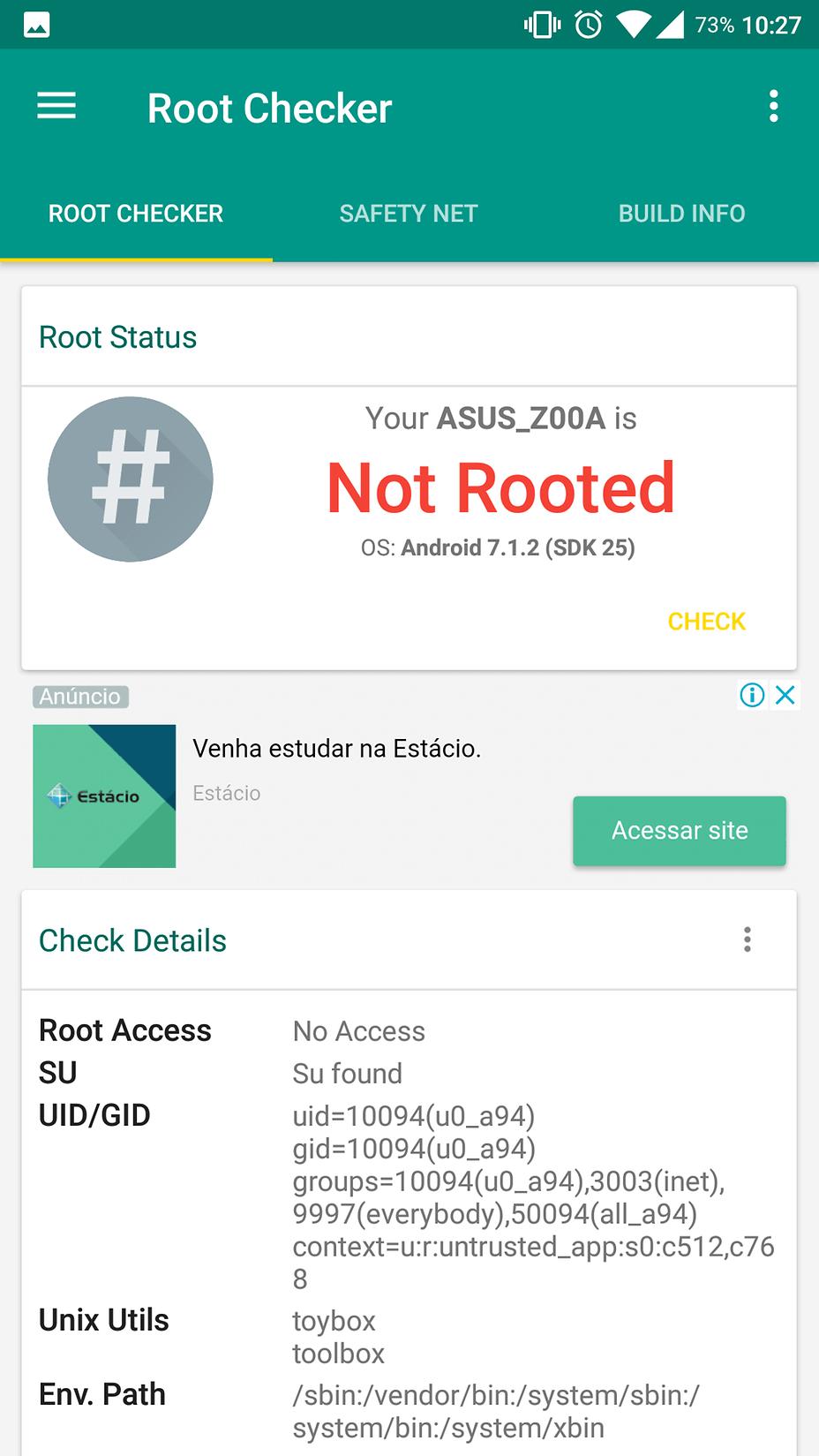 ASUS Zenfone 2 — Lineageos Root Não funciona no Zenfone 2 Z00A