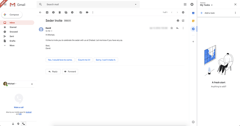 Gmail novo design