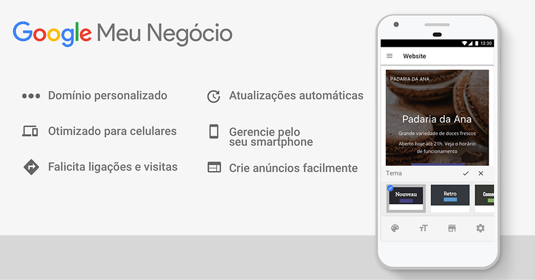 Google Meu Negocio Recursos do site gratis