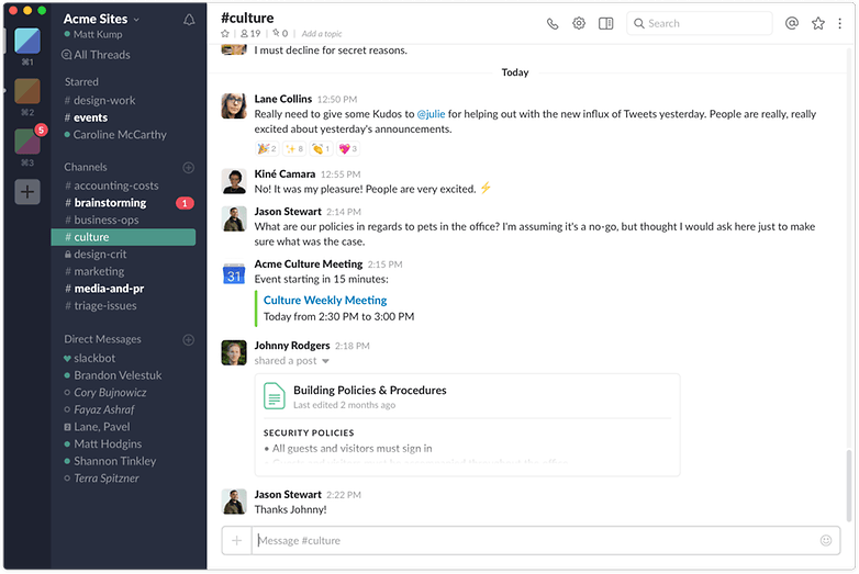 slack mac screenshot