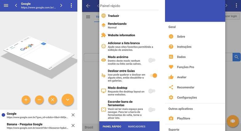 cdbbab3b0 O navegador tem uma interface moderna mostra a mudança de guias   ©  AndroidPIT (captura de tela) ...