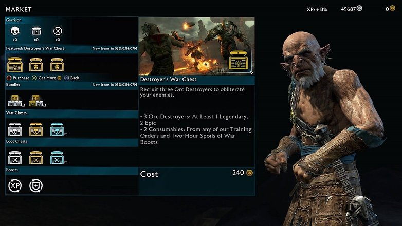 shadow of war market