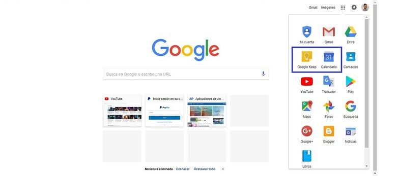 google keep calendar