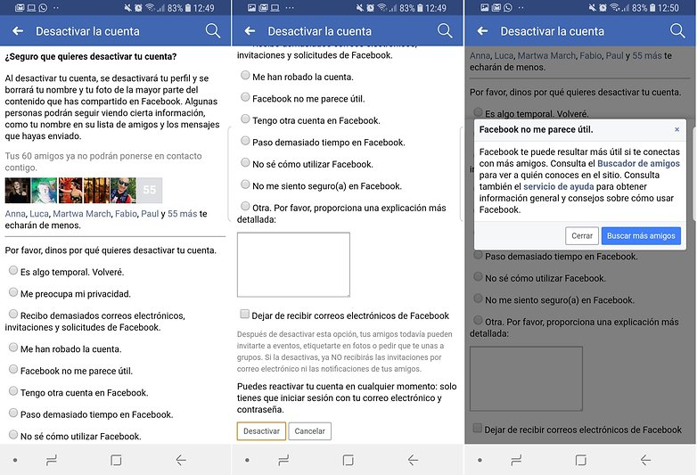 Androidpit facebook eliminarcuenta