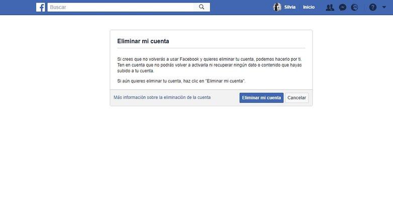 Facebook eliminarcuenta